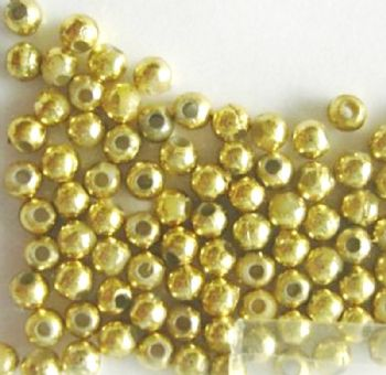 4mm Gold Plated spacer beads x 100.